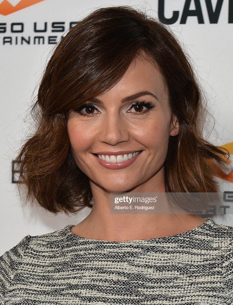 Actress Sienna Farall arrives to the premiere of 'Cavemen' at the ArcLight Cinemas on February 5, 2014 in Hollywood, California.