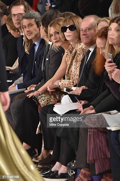 Actress Sienna Miller and Editor in Chief of Vogue Anna Wintour Former Vogue Creative Director Grace Coddington and Vogue's Fashion...