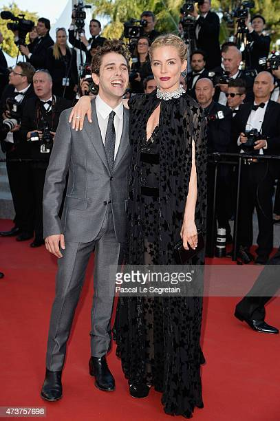 Actress Sienna Miller and Xavier Dolan attend the Premiere of 'Carol' during the 68th annual Cannes Film Festival on May 17 2015 in Cannes France