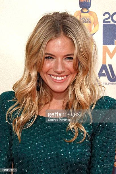 Actress Sienna Miller arrives at the 2009 MTV Movie Awards held at the Gibson Amphitheatre on May 31 2009 in Universal City California