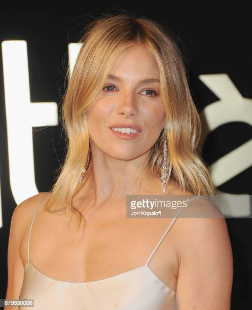 Actress Sienna Miller arrives at the Panthere De Cartier Party In LA at Milk Studios on May 5 2017 in Los Angeles California