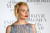Actress Sienna Miller attends Harper's Bazaar Women of the Year Awards at Claridge's Hotel on November 3 2015 in London England