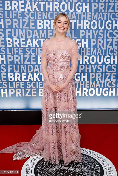 Actress Sienna Miller attends the 2017 Breakthrough Prize at NASA Ames Research Center on December 4 2016 in Mountain View California