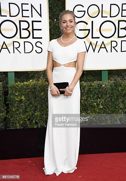 Actress Sienna Miller attends the 74th Annual Golden Globe Awards at The Beverly Hilton Hotel on January 8 2017 in Beverly Hills California