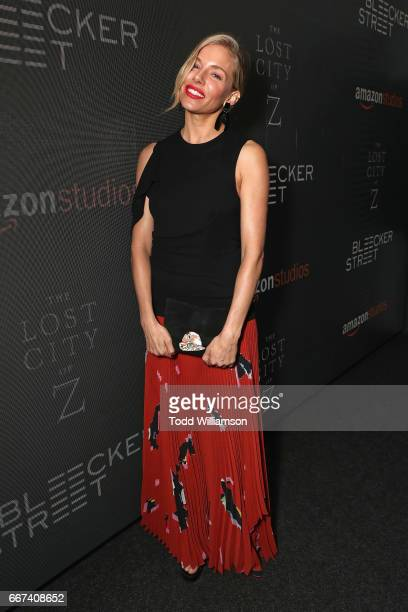 Actress Sienna Miller attends the Amazon Studios and Bleecker Street special screening with Explorer's Club of James Gray's THE LOST CITY OF Z on...