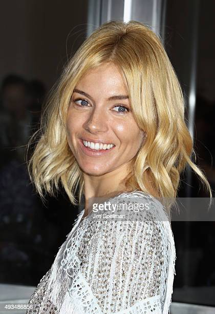 Actress Sienna Miller attends the 'Burnt' New York premiere at Museum of Modern Art on October 20 2015 in New York City
