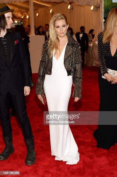 Actress Sienna Miller attends the Costume Institute Gala for the 'PUNK Chaos to Couture' exhibition at the Metropolitan Museum of Art on May 6 2013...