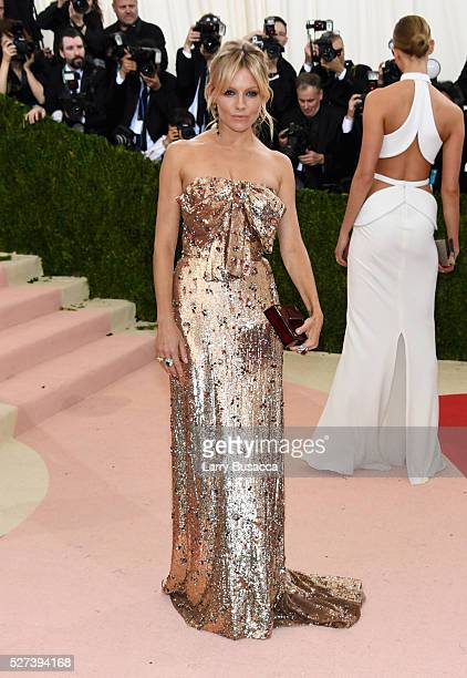 Actress Sienna Miller attends the 'Manus x Machina Fashion In An Age Of Technology' Costume Institute Gala at Metropolitan Museum of Art on May 2...
