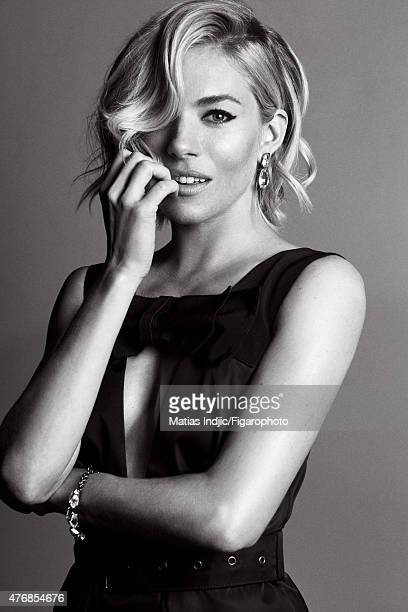 Actress Sienna Miller is photographed for Madame Figaro on May 18 2015 at the Cannes Film Festival in Cannes France Dress jewelry Makeup by LOréal...