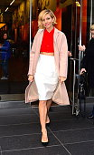 Actress Sienna Miller is seen in mintown on December 4 2014 in New York City