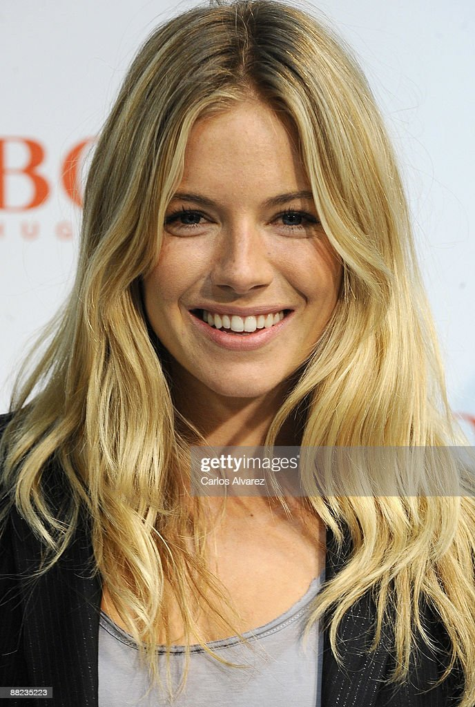 Actress <a gi-track='captionPersonalityLinkClicked' href=/galleries/search?phrase=Sienna+Miller&family=editorial&specificpeople=171883 ng-click='$event.stopPropagation()'>Sienna Miller</a> presents new 'Boss Orange' fragrance at El Corte Ingles store Castellana street on June 5, 2009 in Madrid, Spain.