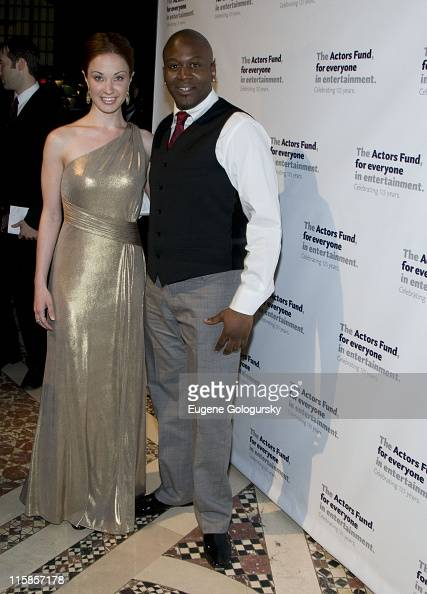 Actress Sierra Boggess and Titus Burgess attend the Actors' Fund 2008 Gala at Cipriani 42nd Street on May 5 2008 in New York City