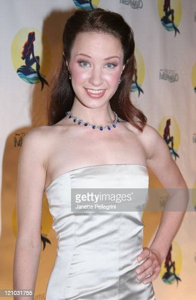 Actress Sierra Boggess attends the After Party of 'The Little Mermaid' at Roseland Ballroom on January 10 2008 in New York City