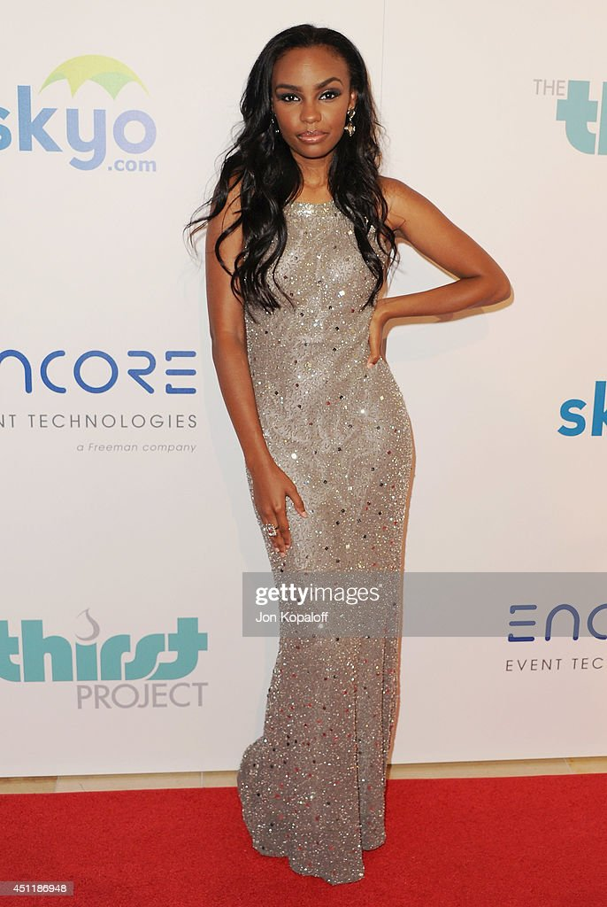 Actress <a gi-track='captionPersonalityLinkClicked' href=/galleries/search?phrase=Sierra+McClain&family=editorial&specificpeople=4142799 ng-click='$event.stopPropagation()'>Sierra McClain</a> arrives at the 5th Annual Thirst Gala at The Beverly Hilton Hotel on June 24, 2014 in Beverly Hills, California.
