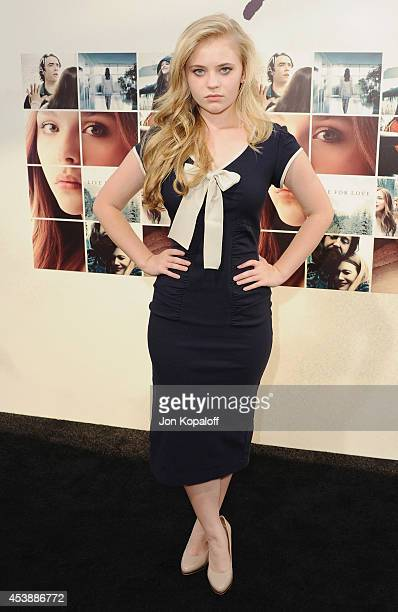 Actress Sierra McCormick arrives at the Los Angeles Premiere 'If I Stay' at TCL Chinese Theatre on August 20 2014 in Hollywood California