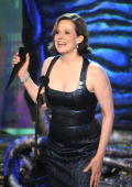 Actress Sigourney Weaver accepts an award onstage during Spike TV's 'Scream 2010' at The Greek Theatre on October 16 2010 in Los Angeles California