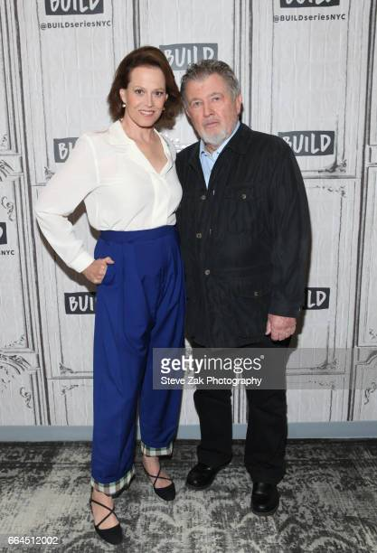 Actress Sigourney Weaver and Director Walter Hill attend Build Series to discuss 'The Assignment' at Build Studio on April 4 2017 in New York City