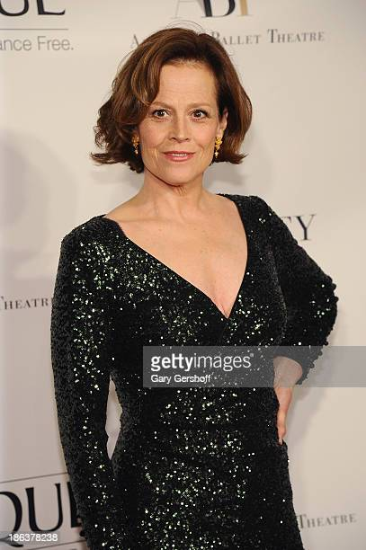 Actress Sigourney Weaver attends American Ballet Theatre 2013 Opening Night Fall Gala at David Koch Theatre at Lincoln Center on October 30 2013 in...