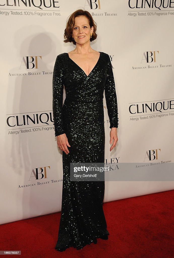 Actress <a gi-track='captionPersonalityLinkClicked' href=/galleries/search?phrase=Sigourney+Weaver&family=editorial&specificpeople=201647 ng-click='$event.stopPropagation()'>Sigourney Weaver</a> attends American Ballet Theatre 2013 Opening Night Fall Gala at David Koch Theatre at Lincoln Center on October 30, 2013 in New York City.