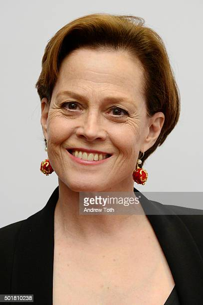 Actress Sigourney Weaver attends Jazz at Lincoln Center's Ertegun Atrium and Ertegun Hall of Fame grand reopening at Jazz at Lincoln Center on...
