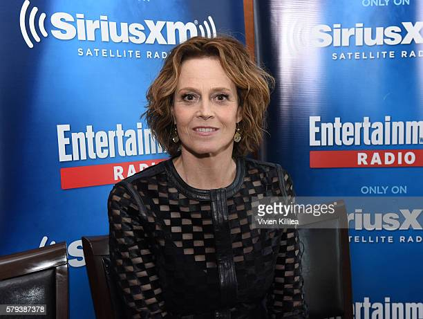 Actress Sigourney Weaver attends SiriusXM's Entertainment Weekly Radio Channel Broadcasts From ComicCon 2016 at Hard Rock Hotel San Diego on July 22...