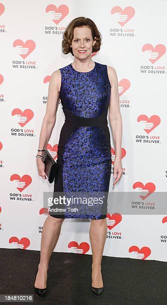 Actress Sigourney Weaver attends the 2013 God's Love We Deliver 2013 Golden Heart Awards Celebration at Spring Studios on October 16 2013 in New York...