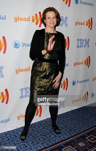 Actress Sigourney Weaver attends the 21st Annual GLAAD Media Awards at The New York Marriott Marquis on March 13 2010 in New York City