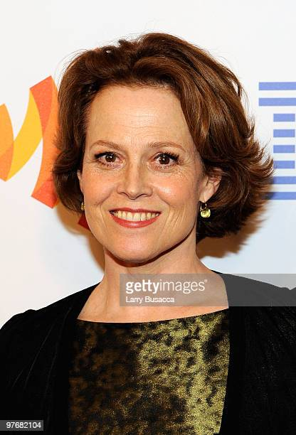 Actress Sigourney Weaver attends the 21st Annual GLAAD Media Awards at The New York Marriott Marquis on March 13 2010 in New York New York