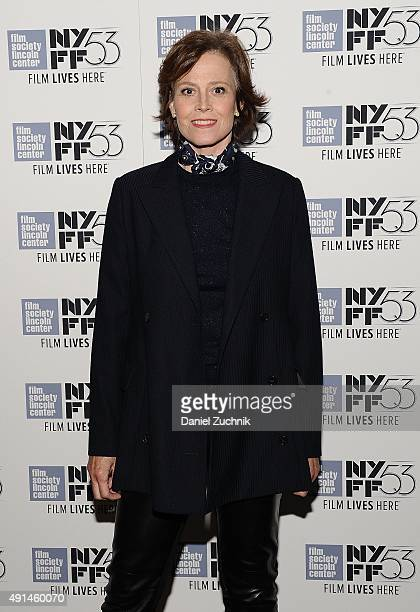 Actress Sigourney Weaver attends the 53rd New York Film Festival premiere of 'Ingrid Bergman In Her Own Words' at The Film Society of Lincoln Center...