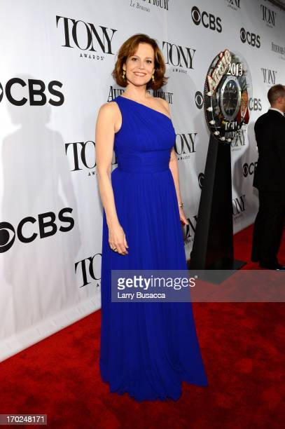 Actress Sigourney Weaver attends The 67th Annual Tony Awards at Radio City Music Hall on June 9 2013 in New York City