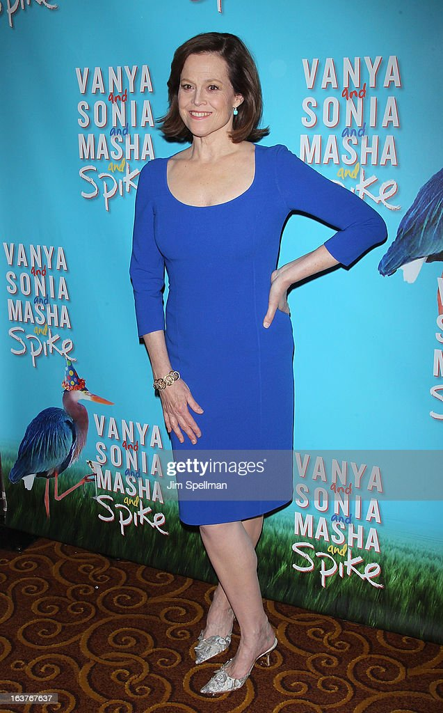 Actress <a gi-track='captionPersonalityLinkClicked' href=/galleries/search?phrase=Sigourney+Weaver&family=editorial&specificpeople=201647 ng-click='$event.stopPropagation()'>Sigourney Weaver</a> attends the after party for 'Vanya And Sonia And Masha And Spike' Broadway opening night at Gotham Hall on March 14, 2013 in New York City.
