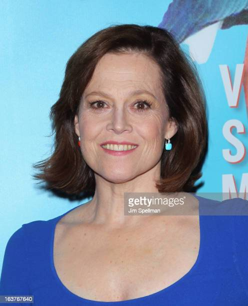 Actress Sigourney Weaver attends the after party for 'Vanya And Sonia And Masha And Spike' Broadway opening night at Gotham Hall on March 14 2013 in...