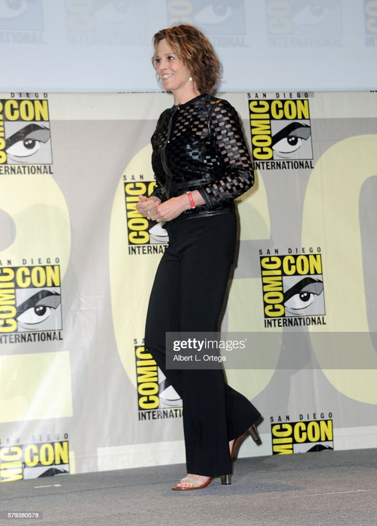 Actress Sigourney Weaver attends the 'Aliens: 30th Anniversary' panel during Comic-Con International 2016 at San Diego Convention Center on July 23, 2016 in San Diego, California.