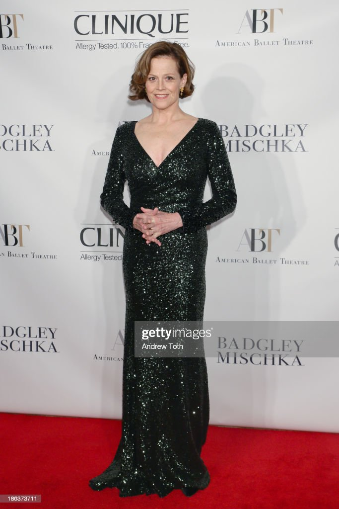 Actress <a gi-track='captionPersonalityLinkClicked' href=/galleries/search?phrase=Sigourney+Weaver&family=editorial&specificpeople=201647 ng-click='$event.stopPropagation()'>Sigourney Weaver</a> attends the American Ballet Theatre 2013 Opening Night Fall gala at David Koch Theatre at Lincoln Center on October 30, 2013 in New York City.