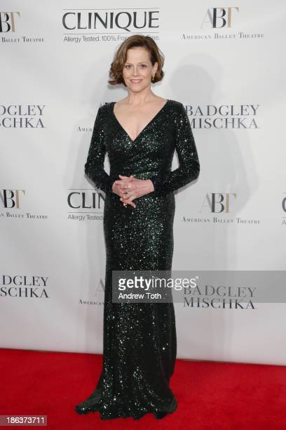 Actress Sigourney Weaver attends the American Ballet Theatre 2013 Opening Night Fall gala at David Koch Theatre at Lincoln Center on October 30 2013...