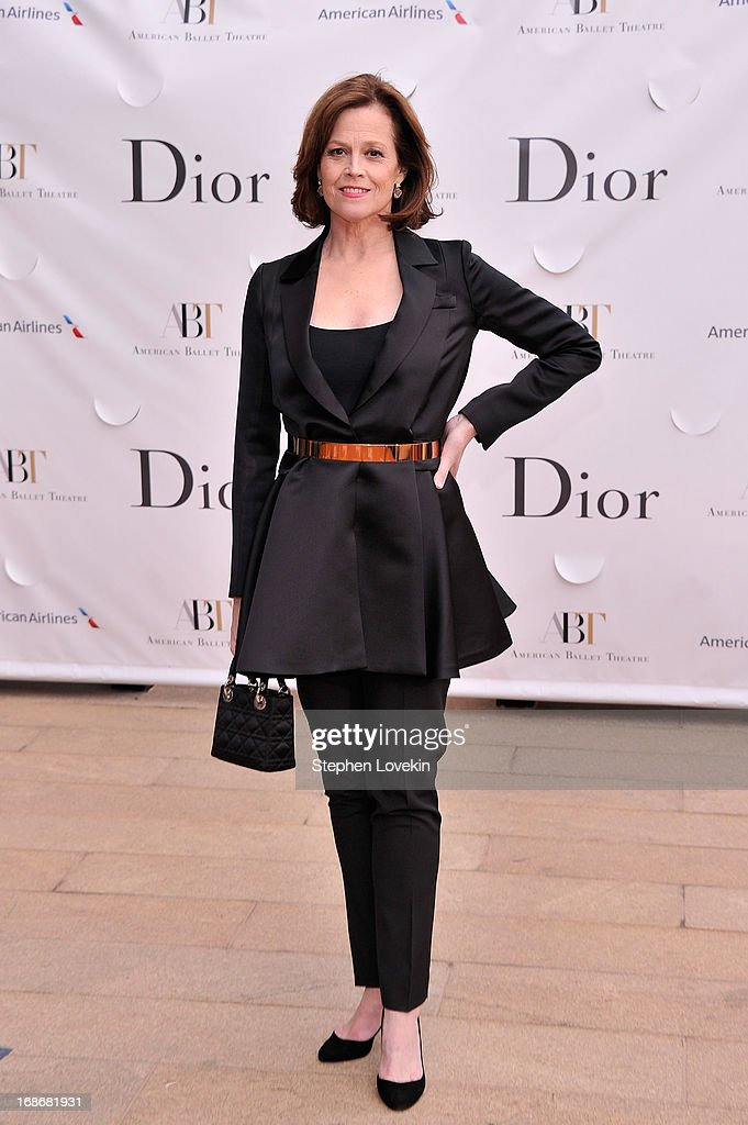 Actress <a gi-track='captionPersonalityLinkClicked' href=/galleries/search?phrase=Sigourney+Weaver&family=editorial&specificpeople=201647 ng-click='$event.stopPropagation()'>Sigourney Weaver</a> attends the American Ballet Theatre opening night Spring Gala at Lincoln Center on May 13, 2013 in New York City.