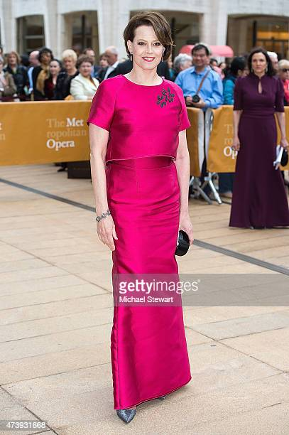 Actress Sigourney Weaver attends the American Ballet Theatre's 75th Anniversary Diamond Jubilee Spring Gala at The Metropolitan Opera House on May 18...