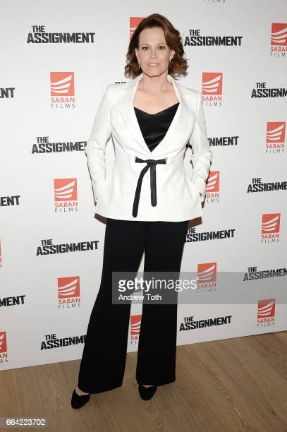 Actress Sigourney Weaver attends 'The Assignment' screening at the Whitby Hotel on April 3 2017 in New York City