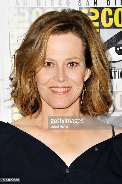 Actress Sigourney Weaver attends the 'Marvel's The Defenders' press line at Comic Con on July 21 2017 in San Diego California