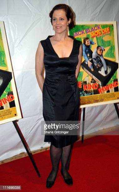 Actress Sigourney Weaver attends the Premiere of 'Be Kind Rewind' on February 19 2008 in New York City