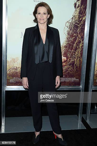 Actress Sigourney Weaver attends the Premiere of Focus Features' 'A Monster Calls' at AMC Loews Lincoln Square on December 7 2016 in New York City