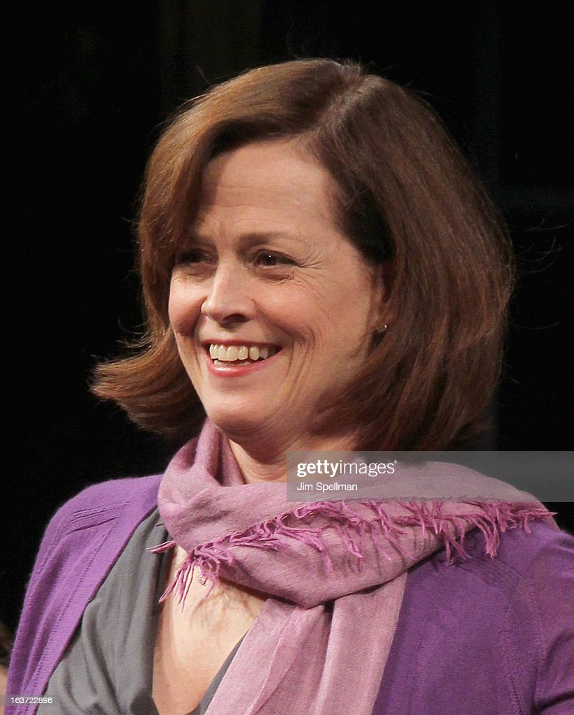 Actress Sigourney Weaver attends the 'Vanya And Sonia And Masha And Spike' Broadway opening night at The Golden Theatre on March 14, 2013 in New York City.