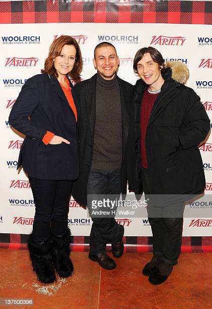 Actress Sigourney Weaver filmmaker Rodrigo Cortés and actor Cillian Murphy attend day 1 of The Variety Studio at The 2012 Sundance Film Festival at...
