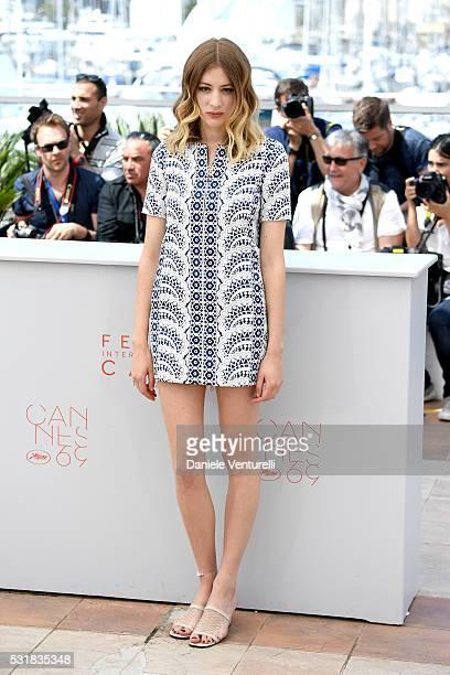 Actress Sigrid Bouaziz attends the 'Personal Shopper' photocall during the 69th annual Cannes Film Festival at the Palais des Festivals on May 17...