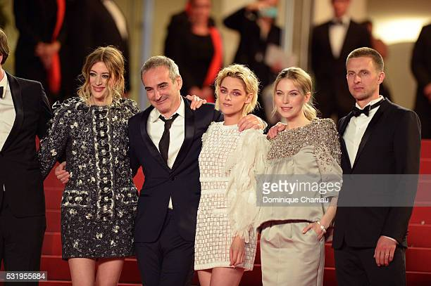 Actress Sigrid Bouaziz Director Olivier Assayas actress Kristen Stewart actress Nora von Waldstaetten and actor Anders Danielsen Lie attend the...