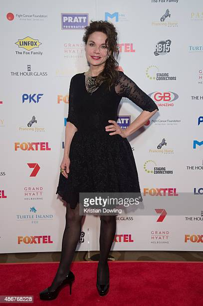 Actress Sigrid Thornton arrives ahead of the Red Ball 2015 at the Grand Hyatt on September 5 2015 in Melbourne Australia