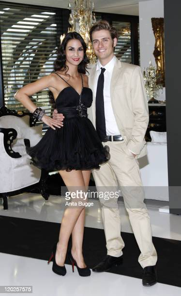 Actress Sila Sahin and actor Joern Schloenvoigt attend the Harald Gloeoeckler Haute Couture Showroom and Gallery opening on August 2 2011 in Berlin...