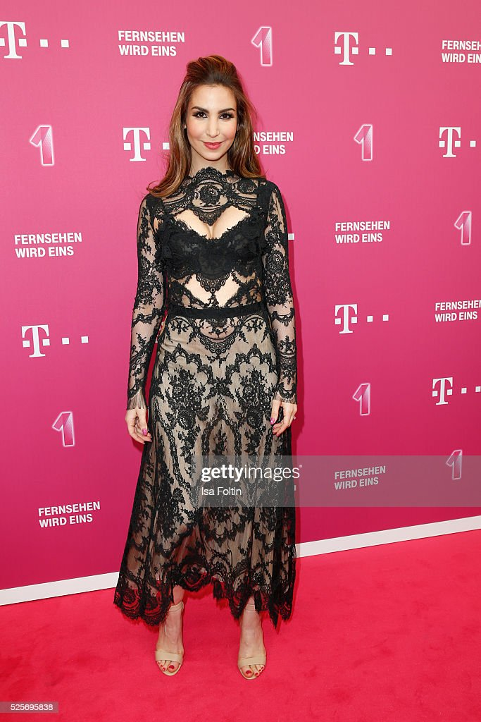 Actress Sila Sahin attends the Telekom Entertain TV Night at Hotel Zoo on April 28 2016 in Berlin Germany