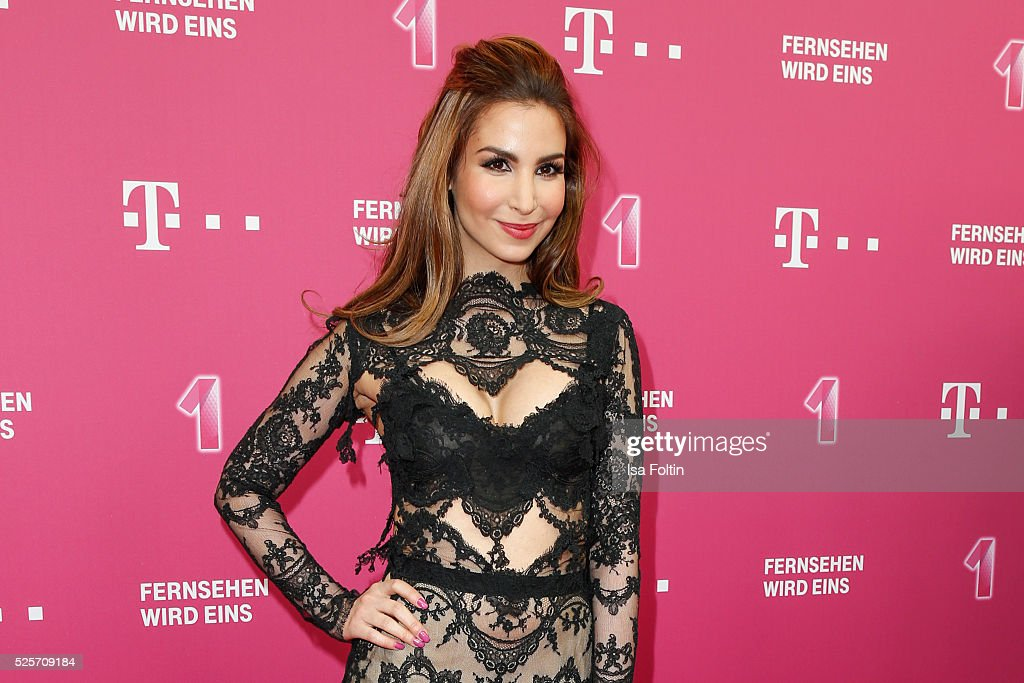 Actress Sila Sahin attends the Telekom Entertain TV Night at Hotel Zoo on April 28, 2016 in Berlin, Germany.