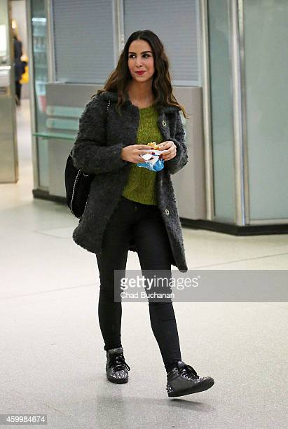 Actress Sila Sahin sighted at Tegel Airport on December 5 2014 in Berlin Germany